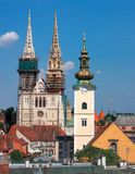 Cathedral in Zagreb Royalty Free Stock Images