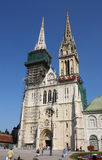 Cathedral in Zagreb, Croatia royalty free stock photos