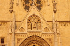 Cathedral in Zagreb, Croatia Stock Photo