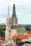 Cathedral in Zagreb, Croatia Stock Photos