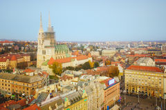 Cathedral in Zagreb, Croatia Stock Images