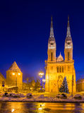 Cathedral in Zagreb. Croatia. Royalty Free Stock Image