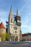 Cathedral in Zagreb, Croatia Royalty Free Stock Images
