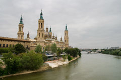 Cathedral of Zaragoza Royalty Free Stock Photo