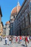 Cathedrale二圣玛丽亚del菲奥雷在佛罗伦萨,意大利 免版税库存图片