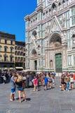 Cathedrale二圣玛丽亚del菲奥雷在佛罗伦萨,意大利 免版税图库摄影