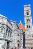 Cathedrale二圣玛丽亚del菲奥雷在佛罗伦萨,意大利 库存照片