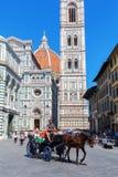 Cathedrale二圣玛丽亚del菲奥雷在佛罗伦萨,意大利 库存图片