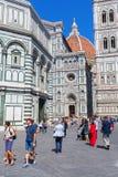 Cathedrale二圣玛丽亚del菲奥雷在佛罗伦萨,意大利 图库摄影