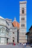 Cathedrale二圣玛丽亚del菲奥雷在佛罗伦萨 库存照片