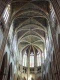 Cathedrale圣徒安德烈,红葡萄酒(法国) 免版税库存照片