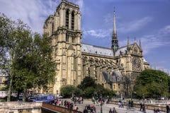 Cathedrale巴黎圣母院 免版税库存照片