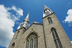 cathedrale贵妇人notre渥太华 免版税库存照片