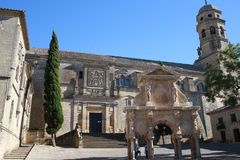 Cathedrale of Baeza, Andalusian, Spain. The Cathedrale of Baeza, Jaen province, Spain in Springtime. The Cathedral of the Nativity of Our Lady is the Renaissance Royalty Free Stock Photography