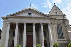 Cathedrale de圣皮埃尔古老基督教会在日内瓦瑞士 库存图片
