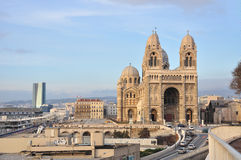 Cathedrale de la Major, Marseille, France. Located in French second largest city, Marseille Stock Photos