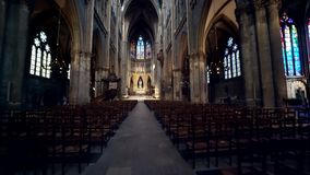 Cathedrale de Metz, Saint-Stephen Cathedral stock video