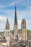 Cathedrale di Rouen - la Francia Immagini Stock Libere da Diritti