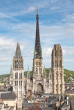 cathedrale france rouen Royaltyfria Bilder