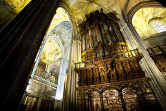 Cathedrale interior de Sevilha fotografia de stock