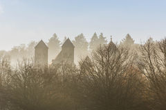 Cathedrale in morning fog Royalty Free Stock Photo