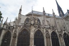 Cathedrale Notre Dame - architecure francese - Parigi, Francia fotografie stock libere da diritti