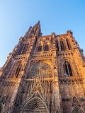 Cathedrale Notre-Dame or Cathedral of Our Lady of Strasbourg Royalty Free Stock Images