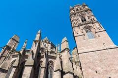 Cathedrale Notre-Dame dans Rodez, France photos libres de droits