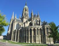 Cathedrale Notre Dame de Bayeux, Frankrike Arkivbilder