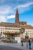 Cathedrale Notre Dame de Strasbourg France Photo libre de droits