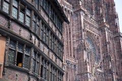 Cathedrale Notre-Dame de Strasbourg, France Stock Photos