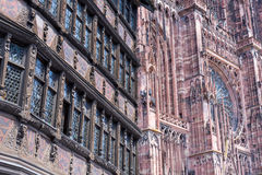 Cathedrale Notre-Dame de Strasbourg, France Royalty Free Stock Images