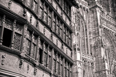 Cathedrale Notre-Dame de Strasbourg, France Royalty Free Stock Photography