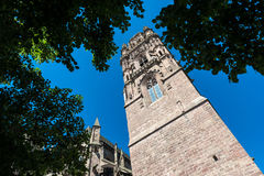 Cathedrale Notre-Dame i Rodez, Frankrike fotografering för bildbyråer