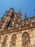 Cathedrale Notre-Dame lub katedra Nasz dama Strasburg Obrazy Royalty Free