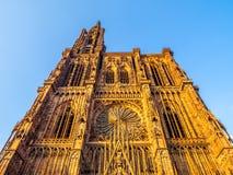Cathedrale Notre-Dame lub katedra Nasz dama Strasburg Zdjęcie Royalty Free