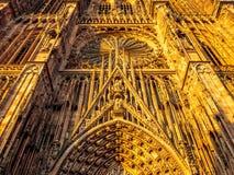 Cathedrale Notre-Dame lub katedra Nasz dama Strasburg Fotografia Royalty Free