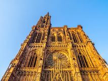 Cathedrale Notre-Dame o cattedrale della nostra signora di Strasburgo Fotografie Stock Libere da Diritti