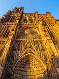 Cathedrale Notre-Dame o cattedrale della nostra signora di Strasburgo Fotografia Stock Libera da Diritti