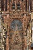 Cathedrale Notre-Dame o cattedrale della nostra signora a Strasburgo, Al Immagine Stock Libera da Diritti