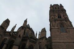 Cathedrale Notre-Dame, Rodez (Frances) image libre de droits