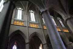Cathedrale Notre-Dame, Rodez (Frankreich) stockfotos