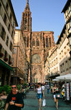 Cathedrale Notre-Dame in Strasbourg Stock Image