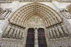 cathedrale Paniusia De Notre Paris Zdjęcia Stock