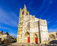 Cathedrale Saint-Etienne in Auxerre Stock Photos