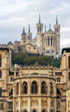Cathedrale Saint Jean and Basilique Notre Dame de Fourviere Stock Image