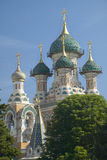 Cathedrale Saint-Nicolas, Russian Orthodox Church, inaugurated in 1912, Nice, France Stock Images