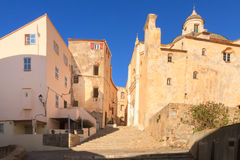 Cathédrale St-Jean-Baptiste in the citadel at Calvi, Corsica Stock Photography