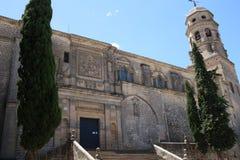 Cathedrale von Baeza, Andalusian, Spanien stockbild