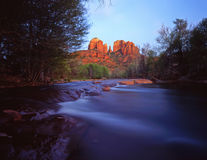 CathedralRock#5. Cathedral Rock and Oak Creek, in the Coconino National Forest, near Sedona, Arizona Stock Images